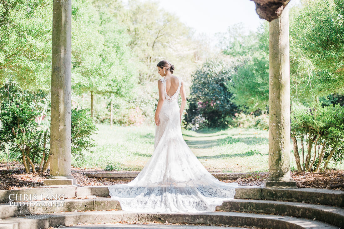 airlie gardens springbridal portrait - Azaelas - floweres - bridal portrait photography - photographers - bridal portraits - bride - wedding dress - ideas - wilmington nc