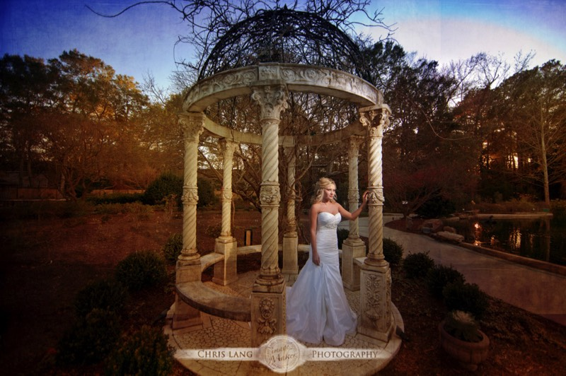 Bridal Portrait of Bride in her Wedding Dress at the Arboretum - Wilmington NC - Bridal Ideas